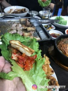 東輝韓食館 菜包肉